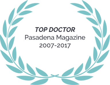 Top Doctor – Pasadena Magazine – 2007-2017